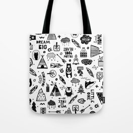 Wild And Free, Scandinavian Kids Tote Bag