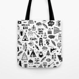 Wild And Free, Scandinavian Kids Tote Bag