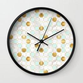 Mint & Gold - daseot Wall Clock