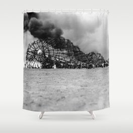 Zeppelin crash (Hindenburg) Shower Curtain