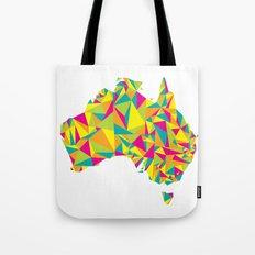 Abstract Australia Bright Earth Tote Bag