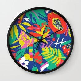 tropical pattern play Wall Clock