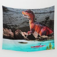dinosaur Wall Tapestries featuring Dinosaur by John Turck