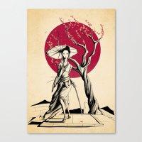 geisha Canvas Prints featuring Geisha by Rafapasta