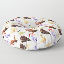 Arctic animals Floor Pillow