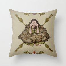 crumbling walls Throw Pillow