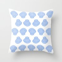 shells Throw Pillows featuring Shells by BIGEHIBI