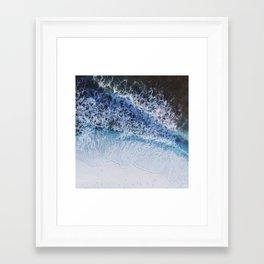 waiting for the tide Framed Art Print