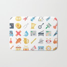 CUTE MUSICAL INSTRUMENTS PATTERN Bath Mat
