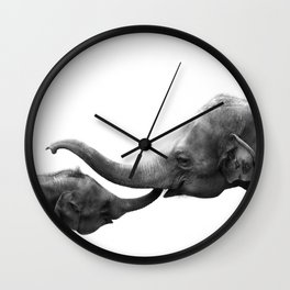 Wildlife Collection: Elephant Love Wall Clock