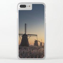 Sunrise at Kinderdijk Clear iPhone Case