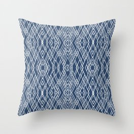 Art Deco Navy Throw Pillow