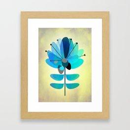 Die Blaue Blume Framed Art Print