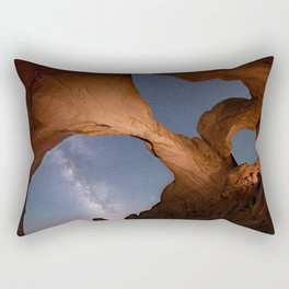 Double Arch in Arches National Park 2 Rectangular Pillow