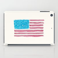 american flag iPad Cases featuring American Flag by Caleb Boyles