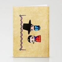 korean Stationery Cards featuring Korean Chibis by artwaste