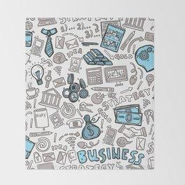 Business Seamless Pattern Throw Blanket