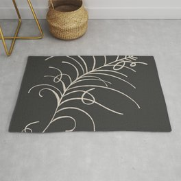 loopy feather Rug