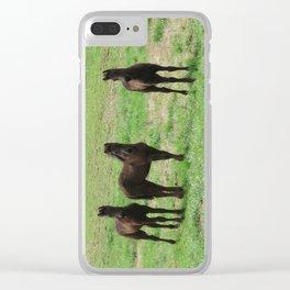 Friesian Foals Clear iPhone Case
