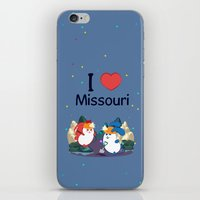 coraline iPhone & iPod Skins featuring Ernest and Coraline | I love Missouri by Hisame Artwork