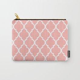 Classic Quatrefoil Lattice Pattern 735 Peach Carry-All Pouch
