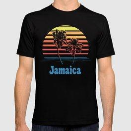 Jamaica Sunset Palm Trees T-shirt