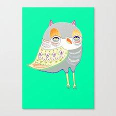 owl illustration, owl print, owl art Canvas Print
