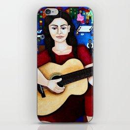"Violeta Parra - ""Black wedding"" iPhone Skin"