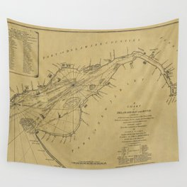 Map of Delaware Bay 1776 Wall Tapestry