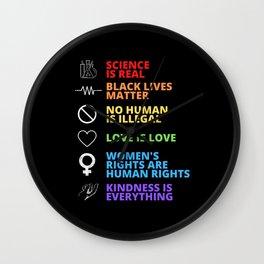 Black Lives Matter - Human Rights Wall Clock
