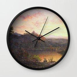 George Loring Brown - Twilight Wall Clock