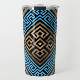 Greek Key Ornament - Greek Meander -Rhombus #2 Travel Mug