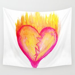 Cracked Passion Wall Tapestry