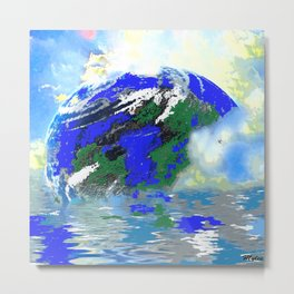 EARTH AND SEA Metal Print