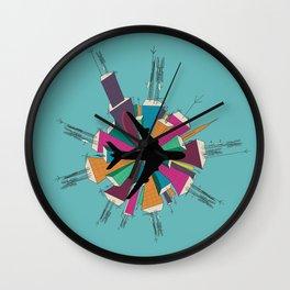 The Concrete Jungle Color Wall Clock
