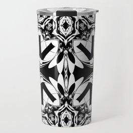 HALF BLACK AND WHITE MANDALA  Travel Mug