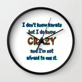 Funny One-Liner Karate Joke Wall Clock