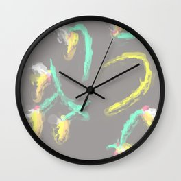 flower pattern 2 Wall Clock