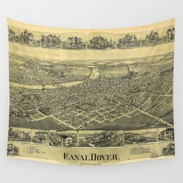 Aerial View of Canal Dover, Ohio (1899) Wall Tapestry