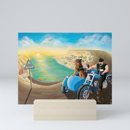 Riding with Rocco Mini Art Print