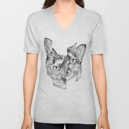 Kitty Split Unisex V-Neck