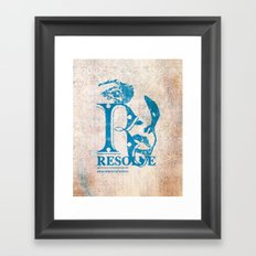 Resolve - On a course of action Framed Art Print