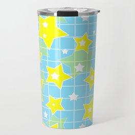 #Yellow #blue #stars Travel Mug