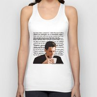dale cooper Tank Tops featuring Agent Cooper - coffee quotes  by Alessandro Paradossi
