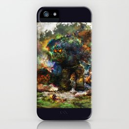 shadow of the witcher iPhone Case