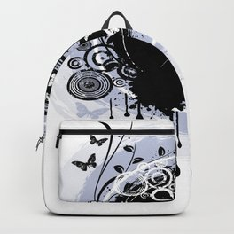 Butterfly Black And White Butterfly Art Backpack