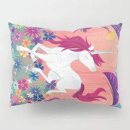 Floral Frolic Unicorn Pillow Sham