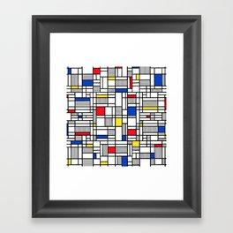 Map Lines Mond Framed Art Print