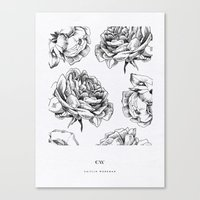 roses Canvas Prints featuring Roses  by Caitlin Workman