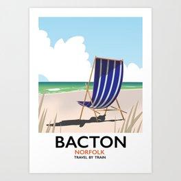 Bacton Norfolk beach poster Art Print